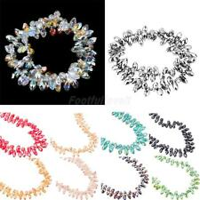 96Pcs Bulk Rhinestone Droplet Spacer Loose Beads DIY Necklace Jewelry Making 6mm
