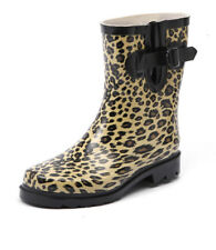 New Gumboots Short Leopard Women Shoes Casuals Boots Ankle Boots