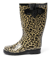 New Gumboots Leopard Women Shoes Boots Long Boots Gumboots