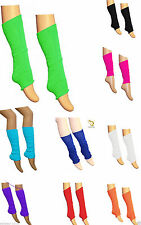 Kids Girls Plain Leg Warmer Girls School Dance Wear Lurex Legwarmer tutu Fancy