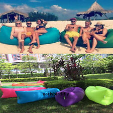 260*70 Inflatable Sofa Air Bed Chair lazy bag Sleeping Bag Mattress Seat Couch