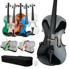 New Optional Student 15inch Green Blue Pink Acoustic Viola + Case + Bow + Rosin