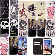 Wallet Card Holder PU Leather Phone Cover Case For Samsung Galaxy S6 S7 LG K7 K8