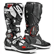 NEW SIDI CROSSFIRE 2 SRS MX DIRTBIKE OFFROAD BOOTS BLACK/WHITE ALL SIZES