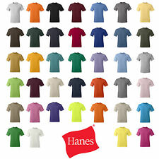 Hanes Mens Short Sleeve T Shirt S M L XL 2XL 3XL 5250