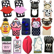 3D Cute Cartoon Soft Silicone Back Cover Case For Apple iPhone SE 5S 6Plus 6s