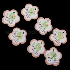 2000x Infant Baby Shower Favour Swing Gift Tags Bomboniere for Candy Box Decor