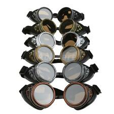 Steampunk Padded Cyber Safety Goggles Glasses Welding Cosplay Cycling Fieldwork