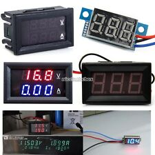 LED Panel Meter DC 3V To 30V DC 0-100V 10A Dual Digital Voltmeter Ammeter N98B