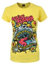 Asking Alexandria Eyeballs Ladies Yellow T-Shirt - NEW & OFFICIAL