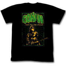 Conan The Barbarian Distressed Green Striped Logo Licensed Adult Shirt S-XXL