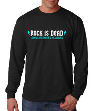 ROCK IS DEAD LONG LIVE PAPER AND SCISSORS FUNNY Long Sleeve Unisex T-Shirt Tee