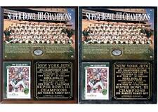 New York Jets Super Bowl III Champions Photo Card Plaque Joe Namath