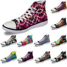 Ladies Classic Lightweight High Top Canvas Sneakers Casual Flat Sport Boots Size