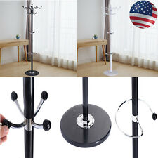 "15 Hooks 70""Good Metal Coat Hat Stand Tree Holder Hanger Rack w/ Marble Base"