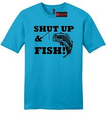 Shut Up & Fish Mens Soft T Shirt Funny Country Song Redneck Fishing Dad Gift Z2