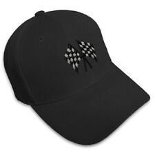 Checkered Flag Embroidery Embroidered Adjustable Hat Baseball Cap