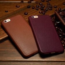 Luxury Ultrathin Leather Soft TPU Back Case Cover For Apple iPhone 5s SE 6s Plus