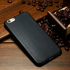 Real Luxury Ultra-thin Leather Soft TPU Back Case Skin Cover For Apple & Samsung