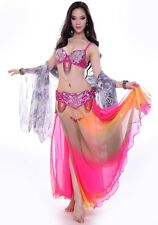 C863 Belly Dance Costume Outfit Set Bra Top Belt Hip Scarf Skirt Hot Style New!!