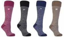 Heat Holders - Ladies Womens Extra Thick Winter Thermal Long Ribbed Boot Socks