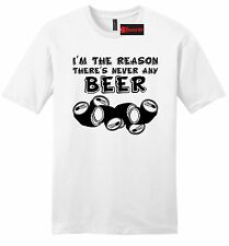 Im The Reason There's Never Beer Funny Mens Soft T Shirt Party Dad Gift Tee Z2