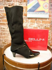 Bellini Estella Black Stretch & Patent Tall Boots NEW