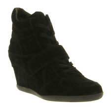 Womens Ash Bowie Wedge Ankle Boots BLACK SUEDE Boots