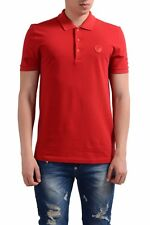 Versace Collection Red Men's Logo Decorated Polo Shirt Sz S M L XL 2XL