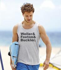 Athletic Vest with WELLER FOXTON BUCKLER NAMES - the jam mod paul bruce rick