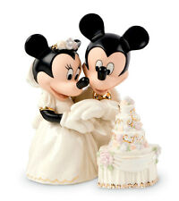 ELenox Disney MINNIE'S DREAM WEDDING CAKE Mickey Figurine Cake Topper New