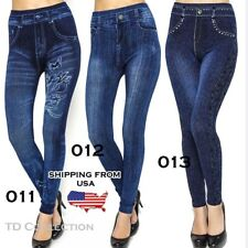 Women Denim Jeans Sexy Skinny Leggings Jeggings Tigh Stretch Pants Trousers
