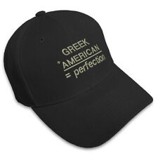 Greek Plus American Perfection Embroidered Adjustable Hat Baseball Cap