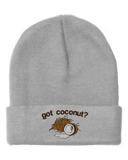 Got Coconut Embroidery Embroidered Beanie Skully Hat Cap