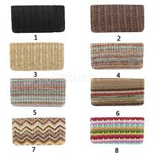 Fashion Womens Ladies Weave Straw Wallet Boho Long Purse Coin Bag Card Holder