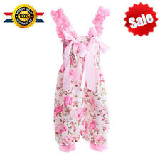 New Satin Baby Girls Toddler Kids Floral One Piece Romper Suit Jumpsuit Outfits