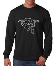 WHAT'S YOUR FANTASY FOOTBALL? Long Sleeve Unisex T-Shirt Tee Top
