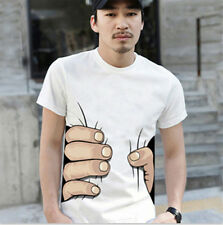 Men's 3D T-shirt Big Hand Printed Funny Catch You Short Sleeve Fashion Tee New
