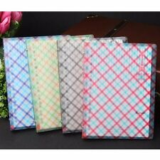 A5 Loose Leaf Plastic Cover Grid Notebook Ruled Diary Journal Note Book Memo #UK