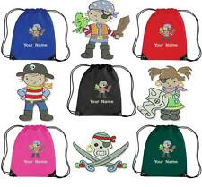 PERSONALISED EMBROIDERED DRAWSTRING GYM/SHOE BAG WITH PIRATE DESIGN - cove PIR