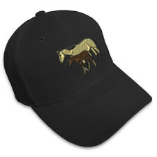 Mare & Foal Horse Embroidery Embroidered Adjustable Hat Baseball Cap