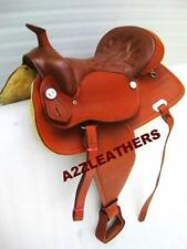 ".NEW Western Leather saddle (Tan Colour)15"",16"" &17"""