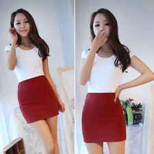 Summer Candy Color A-line Women Ladies Sexy Bodycon High Waist Skirt Dress
