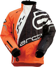 Arctiva Mens Black/Orange/White Comp RR Shell Uninsulated Snowmobile Jacket