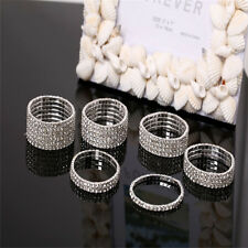 Bling Crystal Rhinestone Elastic Bracelet Bangle Wedding Bridal Wristband Trendy