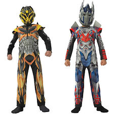 Rubies Boys Transformer Fancy Dress Up Outfit Bumble Bee Optimus Prime