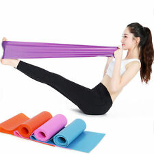 1.2m Elastic Yoga Pilates Rubber Stretch Resistance Exercise Fitness Band Belt