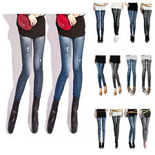 Fashion Women Skinny Jeans Look Tights soft Stretchy Pants Sexy Pencil Jeggings