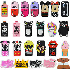 New 3D Cartoon Cool Soft Silicone Rubber Phone Cover Back Skins Cases For iPhone
