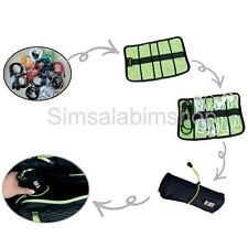 Universal Waterproof Cable Organizer Case USB Drive Pens Holder with Cable Tie